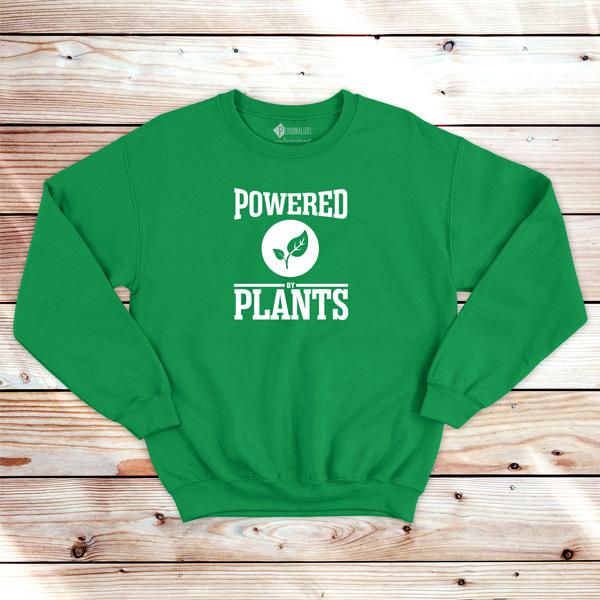 Powered By Plants Sweatshirt unisex vegan roupas