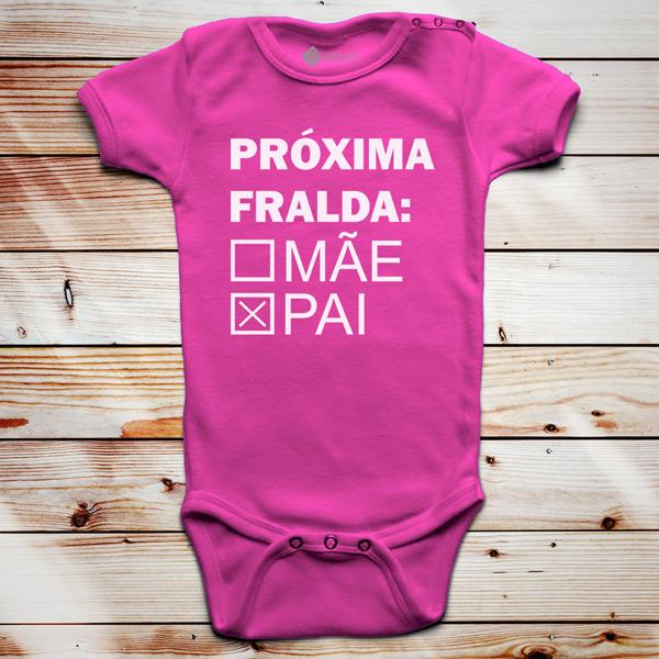 Próxima fralda Body bebé rosa