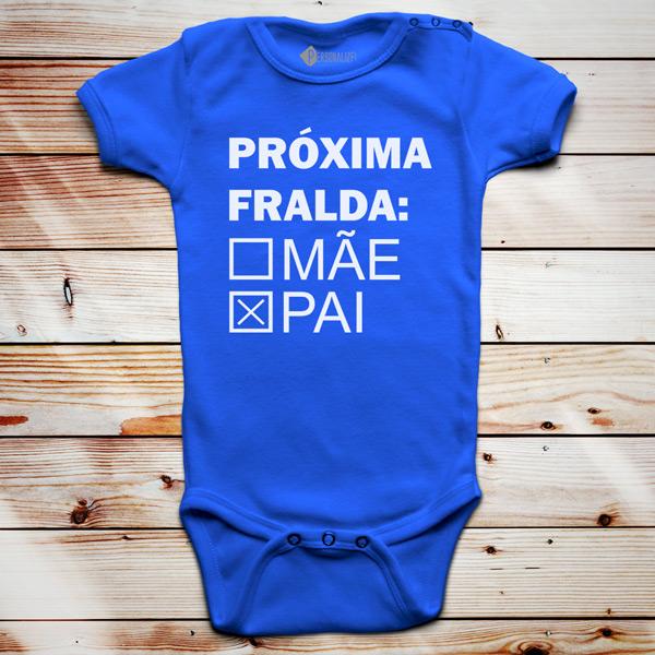 Próxima fralda Body bebé azul