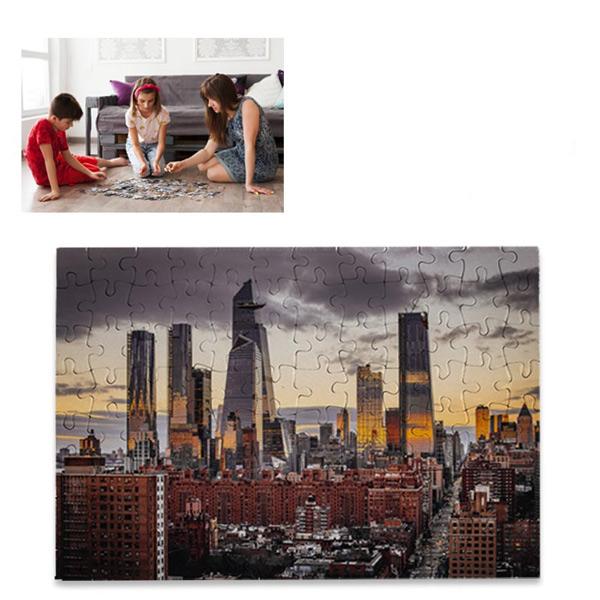 Puzzle branco para sublimação 96 peças 20x28,7cm com sua imagem