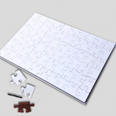 Puzzle de madeira branco para sublimação 60 peças 25x36cm comprar