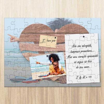Puzzle personalizado namorados foto frase iniciais comprar em Portugal
