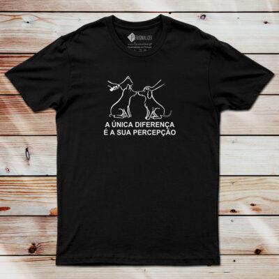 T-shirt A única diferença é sua percepção