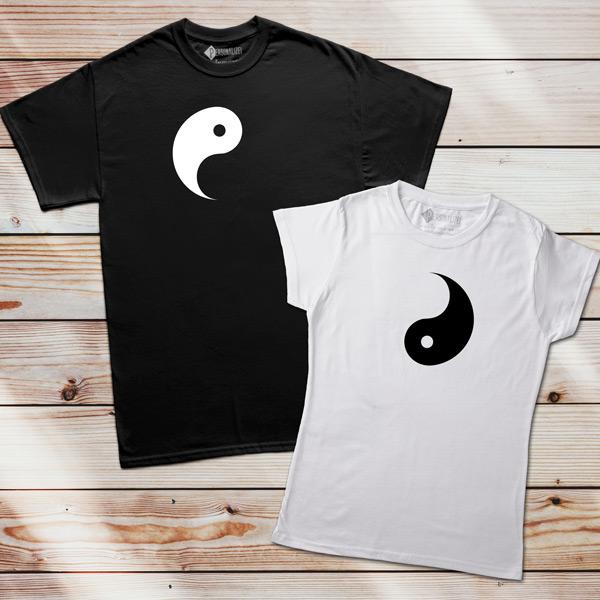 T-shirts Yin Yang conjunto personalize
