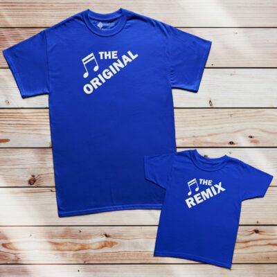 T-shirt The Original The Remix Pai filho(a) Mãe e filha(o) comprar conjunto família