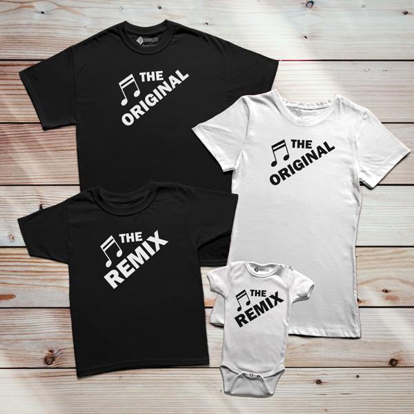 T-shirt The Original The Remix Pai filho(a) Mãe e filha(o) em Portugal