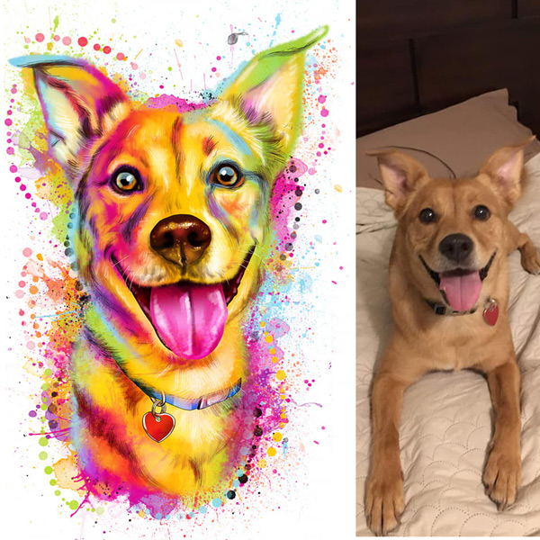 Sua foto em Ilustração colorida estilo aquarela