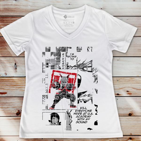 Bakugou T-shirt Boku No Hero Academia camiseta