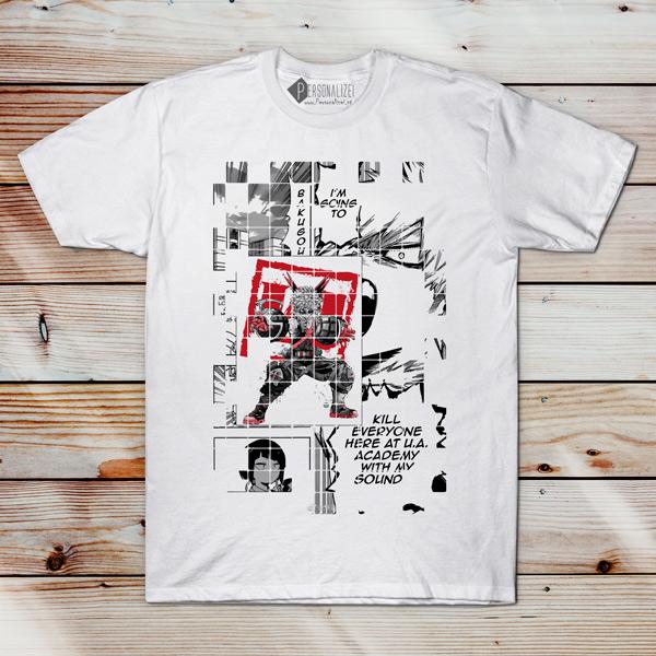 Bakugou T-shirt Boku No Hero Academia camiseta em Portugal
