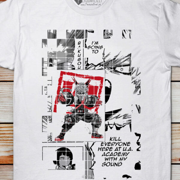 Bakugou T-shirt Boku No Hero Academia camisetas animes