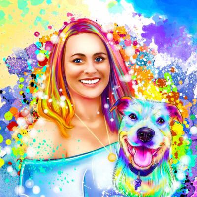 Sua foto em Ilustração colorida estilo aquarela comprar em Portugal