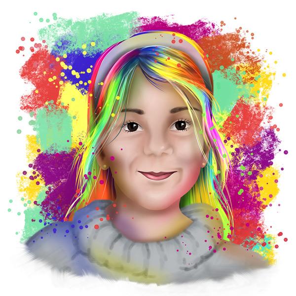 Sua foto em Ilustração colorida estilo aquarela comprar
