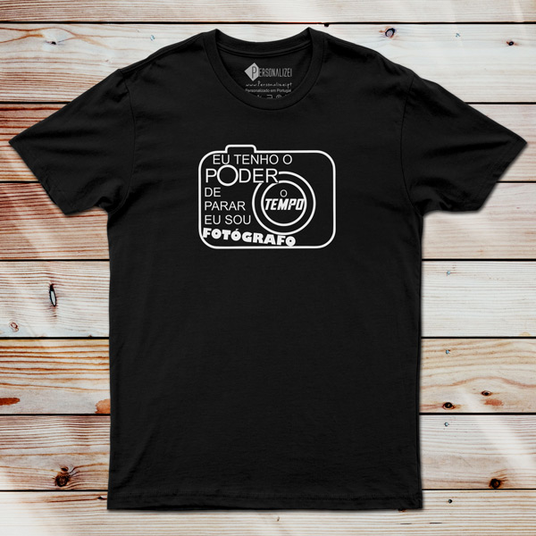 T-shirt Fotógrafo(a) Poder de parar o tempo comprar em Portugal