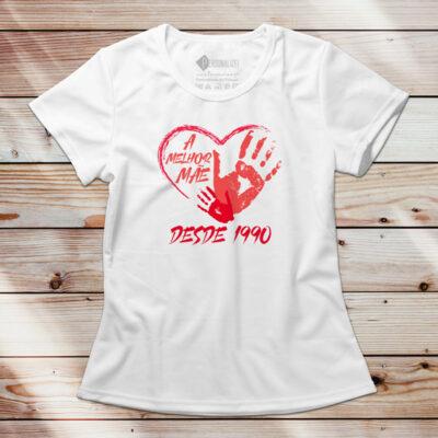 T-shirt a melhor Mãe desde... sua data de nascimento dia das mães