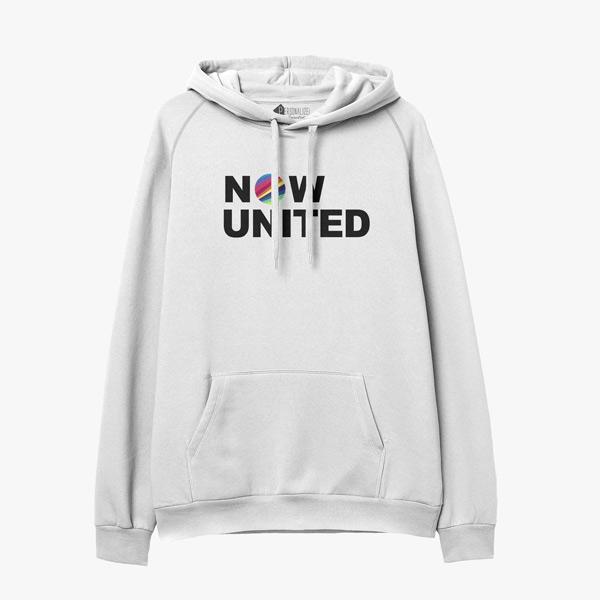 Now United Sweatshirt com capuz branco infantil e adulto comprar