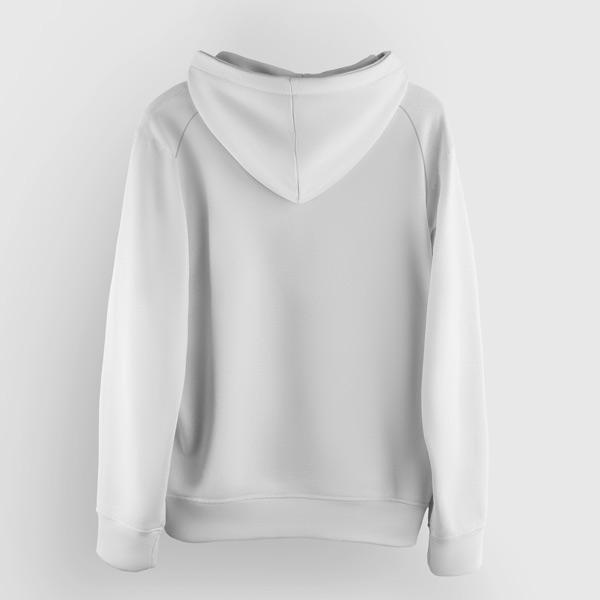 Now United Sweatshirt com capuz branco infantil e adulto costas