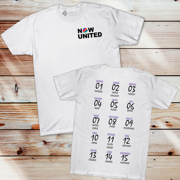 Now United T-shirt com todos os integrantes comprar em Portugal