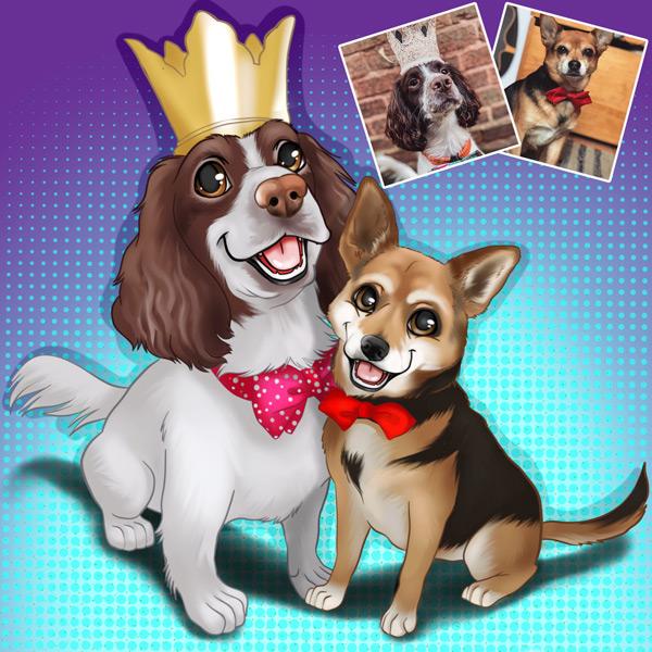 Seu PET em ilustração estilo Disney animal de estimação comprar