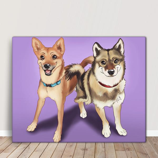 Seu PET em ilustração estilo Disney animal de estimação amigos