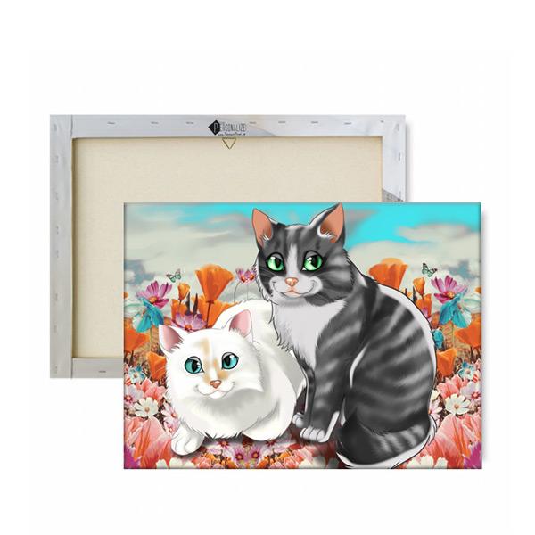 Seu PET em ilustração estilo Disney animal de estimação gatos ilustrados