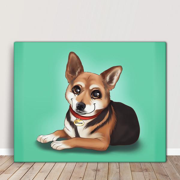 Seu PET em ilustração estilo Disney animal de estimação