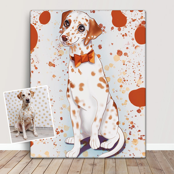 Seu PET em ilustração estilo Disney animal de estimação dalmata