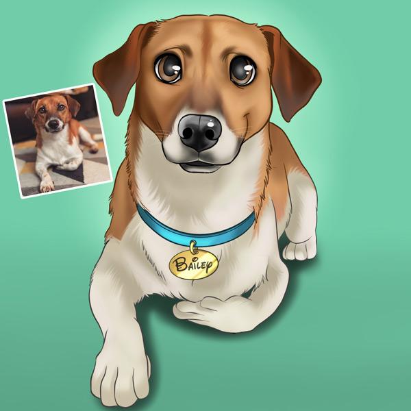Seu PET em ilustração estilo Disney animal de estimação cachorro