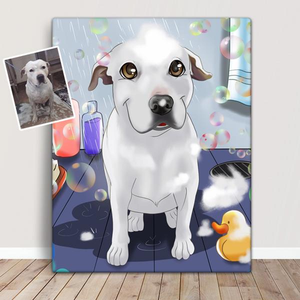 Seu PET em ilustração estilo Disney animal de estimação cão caricatura