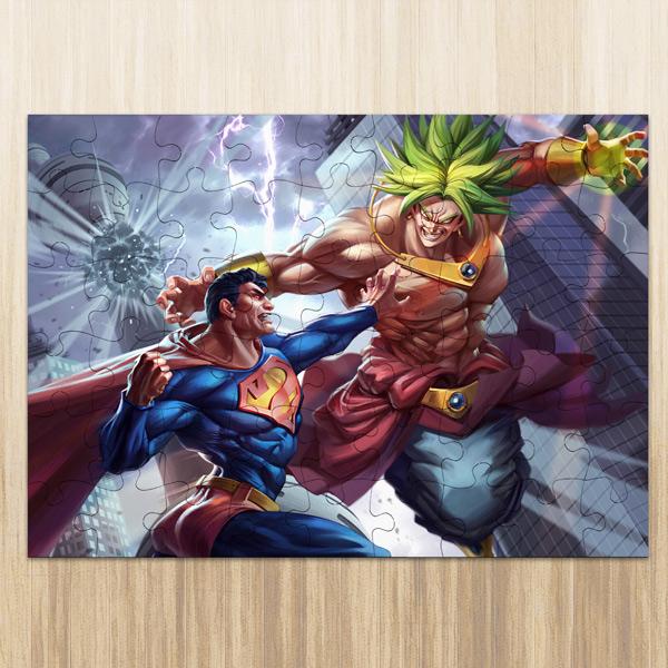 Puzzle Broly vs Superman em madeira ou cartão comprar em Portugal