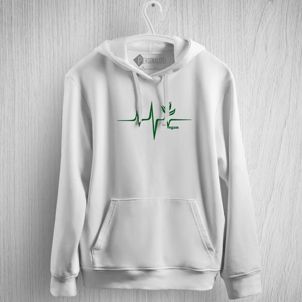 Sweatshirt com capuz Vegan heartbeat comprar em Portugal
