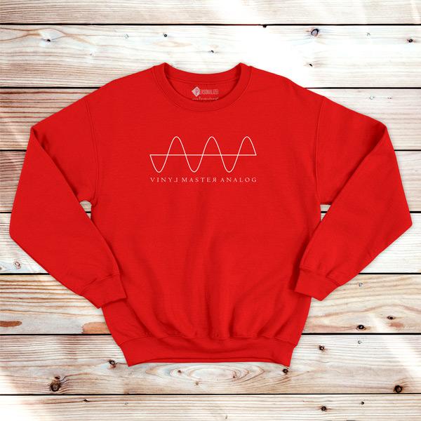 Analog Signal Vinyl Dj technics Sweatshirt unisex vermelho