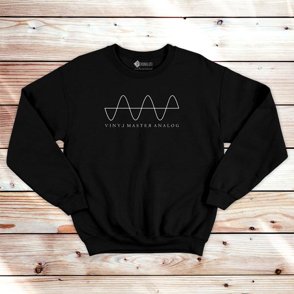 Analog Signal Vinyl Dj technics Sweatshirt unisex DJ