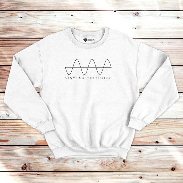Analog Signal Vinyl Dj technics Sweatshirt unisex branco