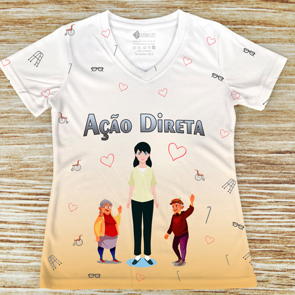 T-shirt Ação Direta profissão/curso preço