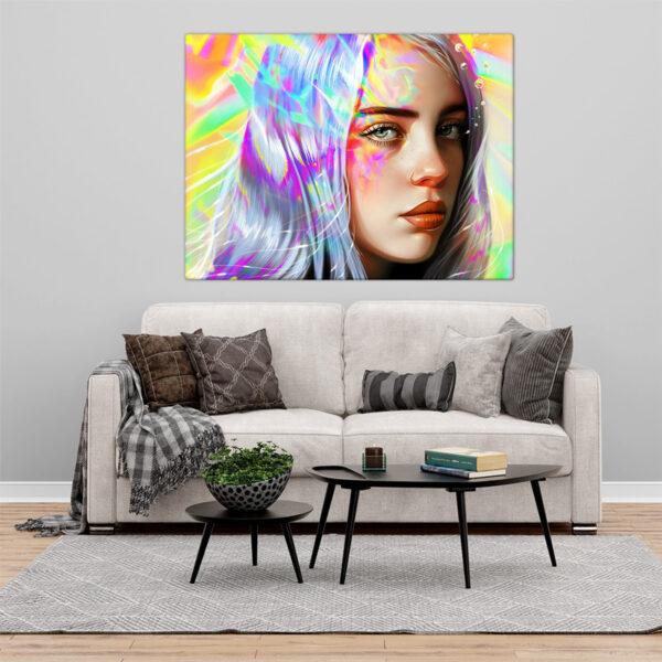 Billie Eilish Quadro/Tela na sala