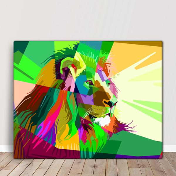 Colorful Lion Quadro/Tela comprar em Portugal
