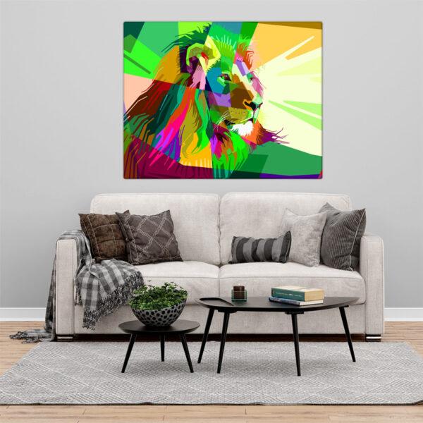 Colorful Lion Quadro/Tela leão