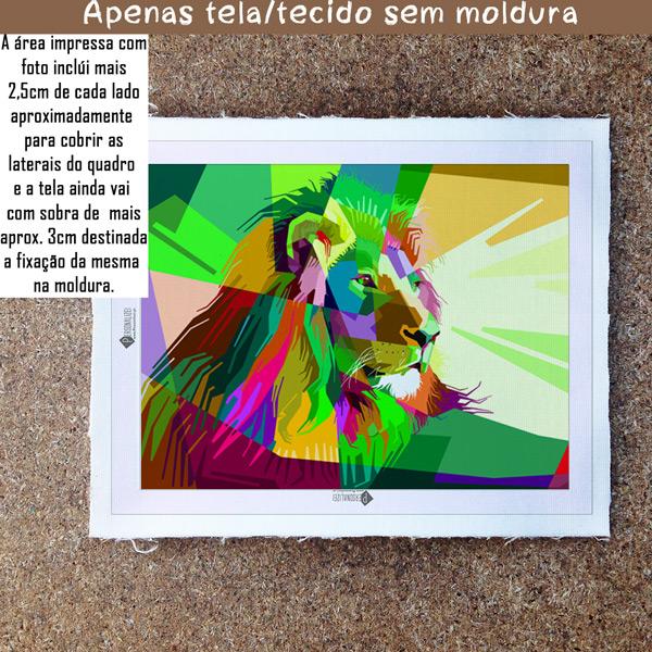 Colorful Lion Quadro/Tela sem moldura