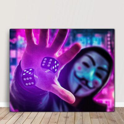 Anonymous Quadro/Tela Vendetta Mask