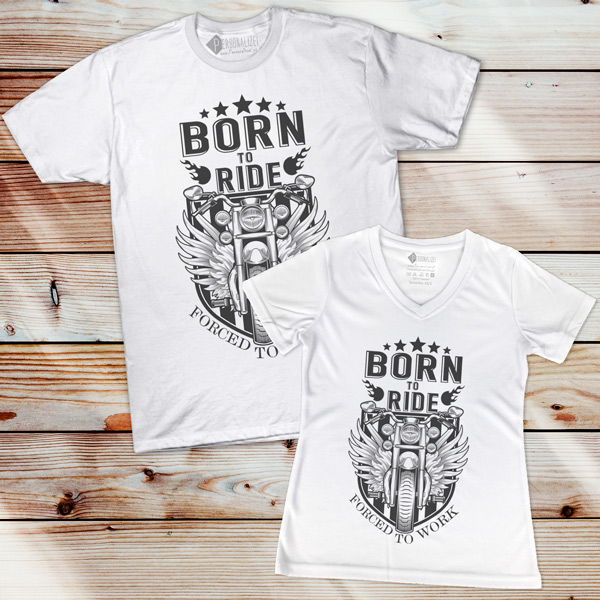 T-shirt Born to Ride Forced to Work camisetas