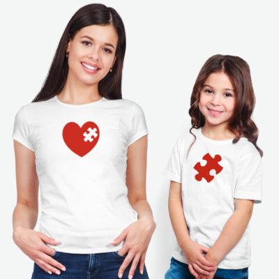 T-shirt Peça que faltava no meu coração conjunto comprar em Portugal