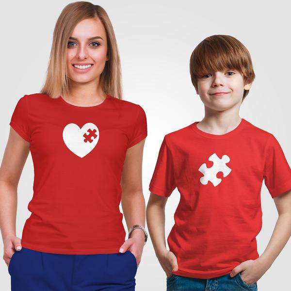 T-shirt Peça que faltava no meu coração conjunto