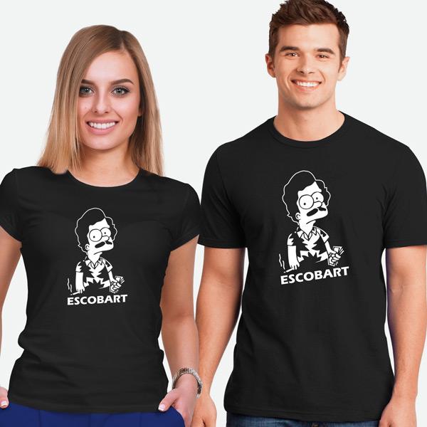 T-shirt Escobart preta