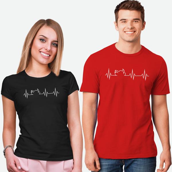 T-shirt Heartbeat Mota