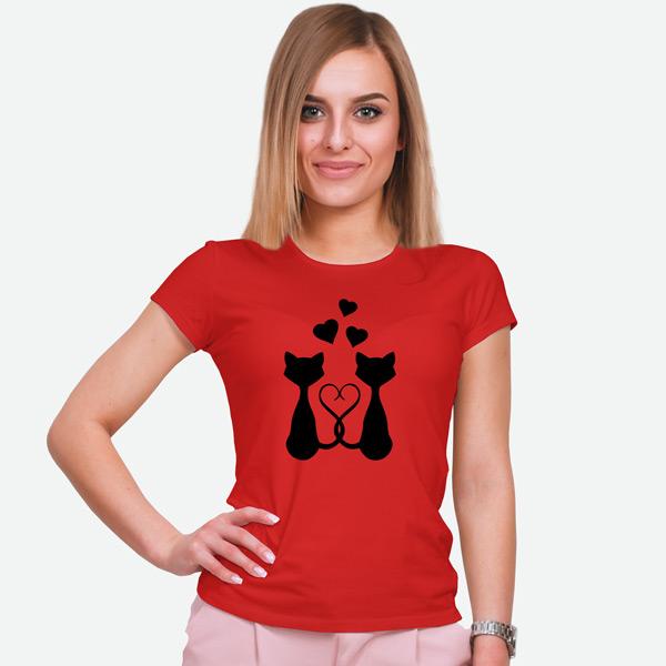 T-shirt Love Cats camiseta comprar em Portugal