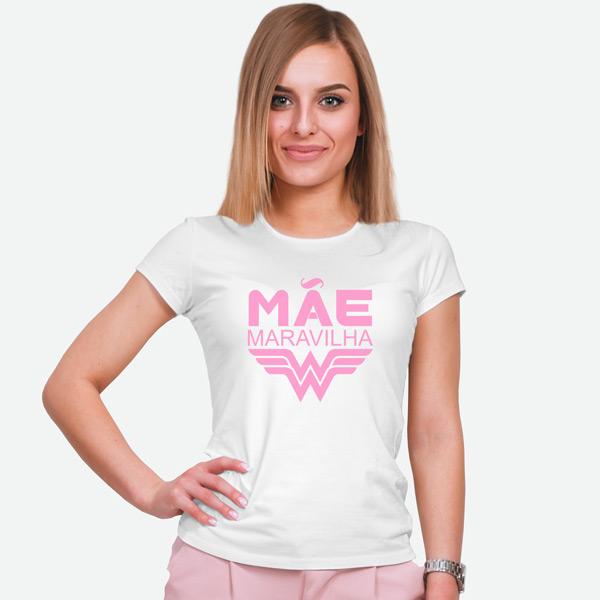 T-shirt Mãe Maravilha personalizei