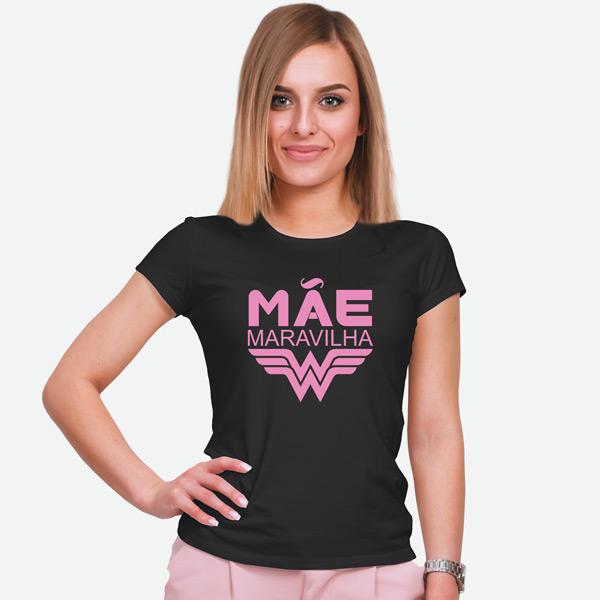 T-shirt Mãe Maravilha preta