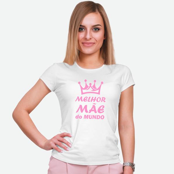 T-shirt Melhor Mãe do Mundo branca comprar