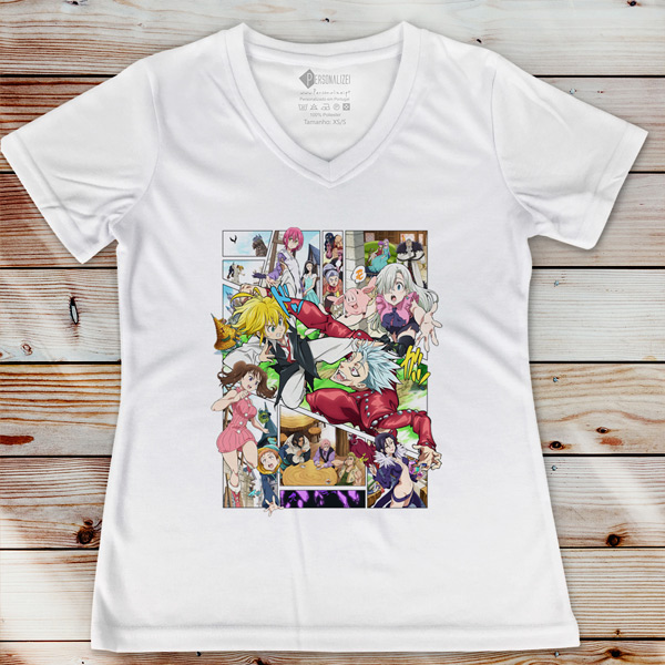 T-shirt Nanatsu no Taizai camiseta feminina