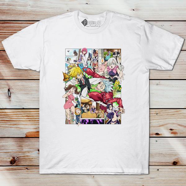 T-shirt Nanatsu no Taizai camiseta masculina